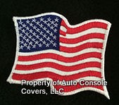 American Flag Patch 1 Wave White Trim (Patch Only)