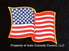 American Flag Patch 1 Wave Yellow Trim (Patch Only)