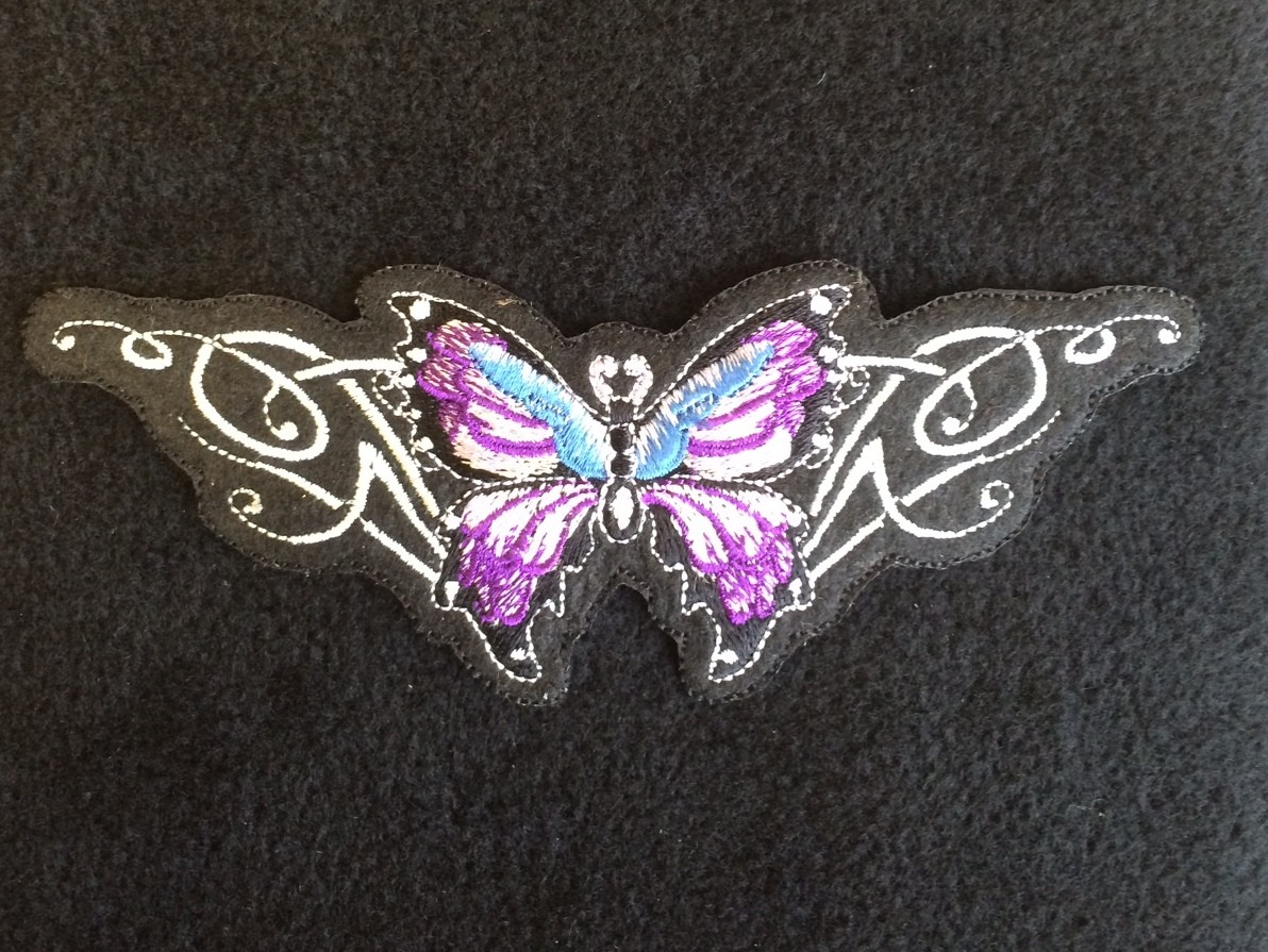 Lavender Butterfly with Wings Patch