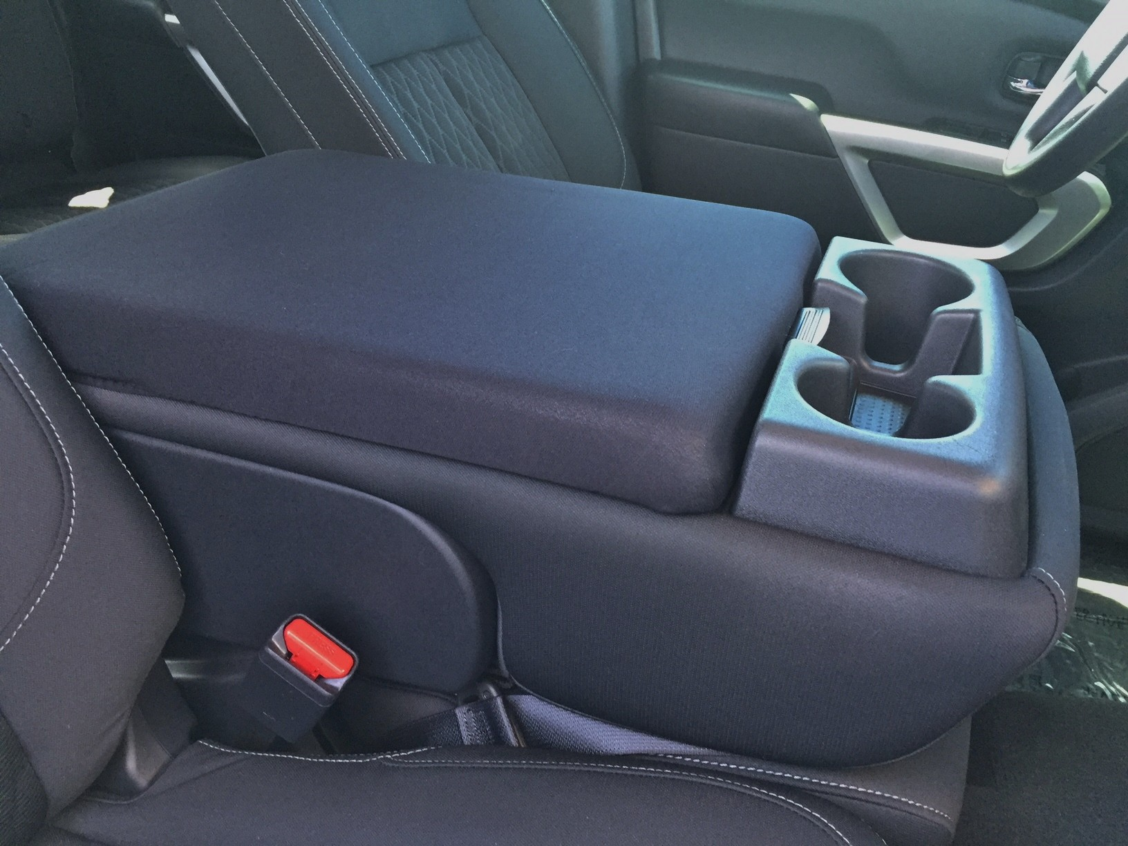 Nissan Titan 2013-2020 - (With Third Middle Front Seat)-Neoprene Console Cover