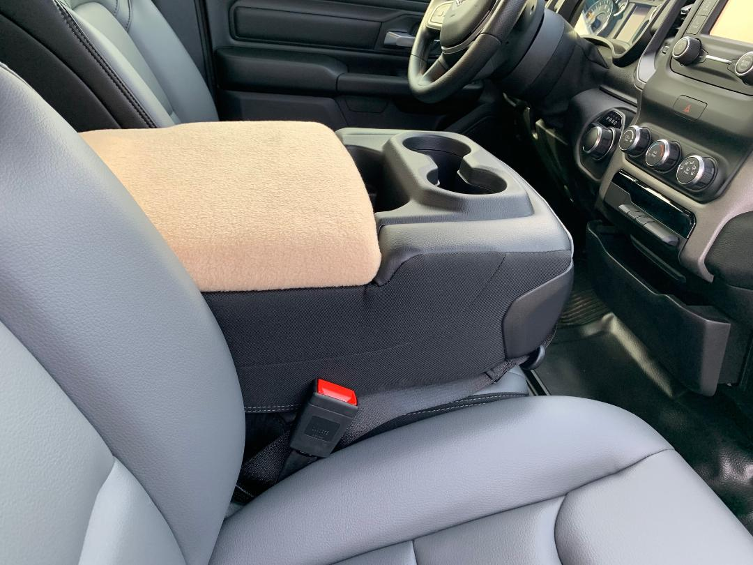 Fleece Console Cover - Ram 1500, 2500, & 3500 ( 2019 - 2020 Laramie, Limited, Big Horn, Tradesman) W/Middle Fold Down Seat