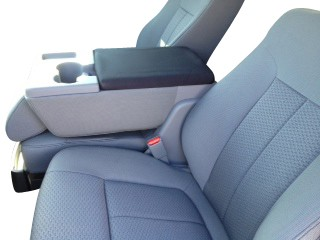 Neoprene Center Console Armrest Cover- Ford Truck F-150, 250, 350 Fold down middle seat (2011-2015)