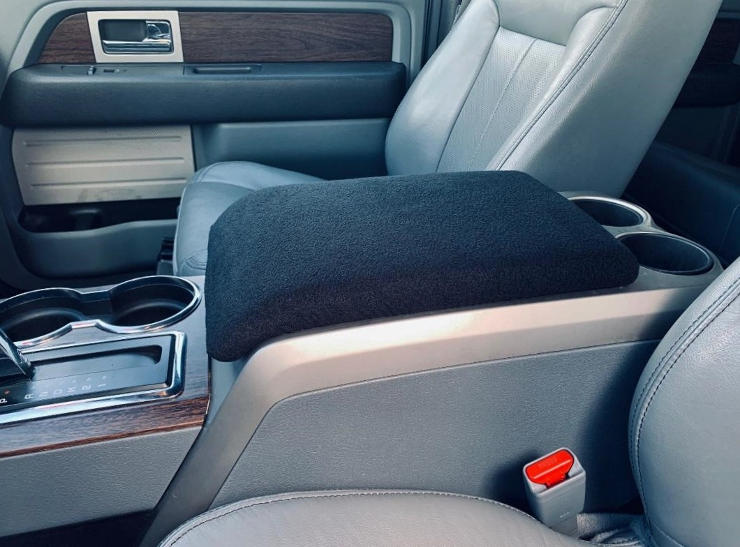 Fleece Console Cover - 2011-2014 Ford F-150 Lariat, Limited, FX2, FX4, Platinum, & King Ranch Models