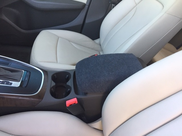Fleece Center Console Armrest Cover - Audi Q5 2009-2014