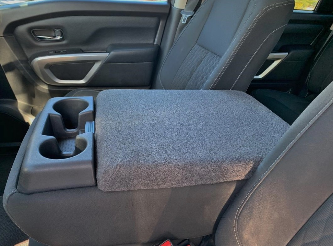 Nissan Titan 2004-2012 - (With Third Front Middle Seat)-Fleece Console Cover