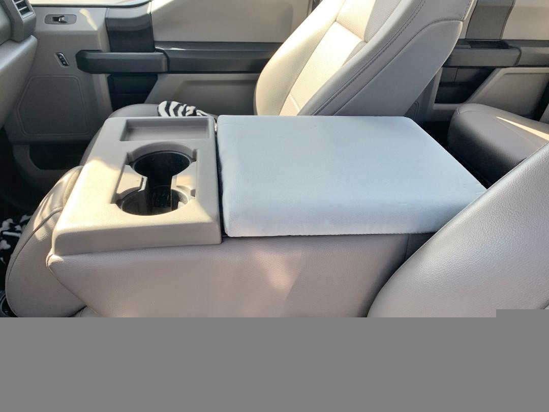 Neoprene Center Console Armrest Cover- Fits the Ford F-250 Super Duty 2014-2020 Fold down middle seat with console
