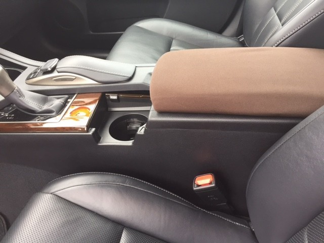 Neoprene Center Console Armrest Cover - 2008-2014 Lexus IS F