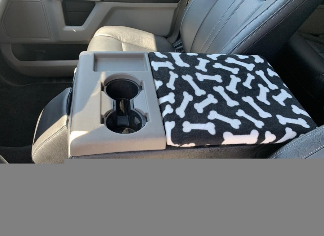 Buy Fleece Center Console Armrest Cover fits the Ford F-450 2011-2016 Fold down middle seat with a console box
