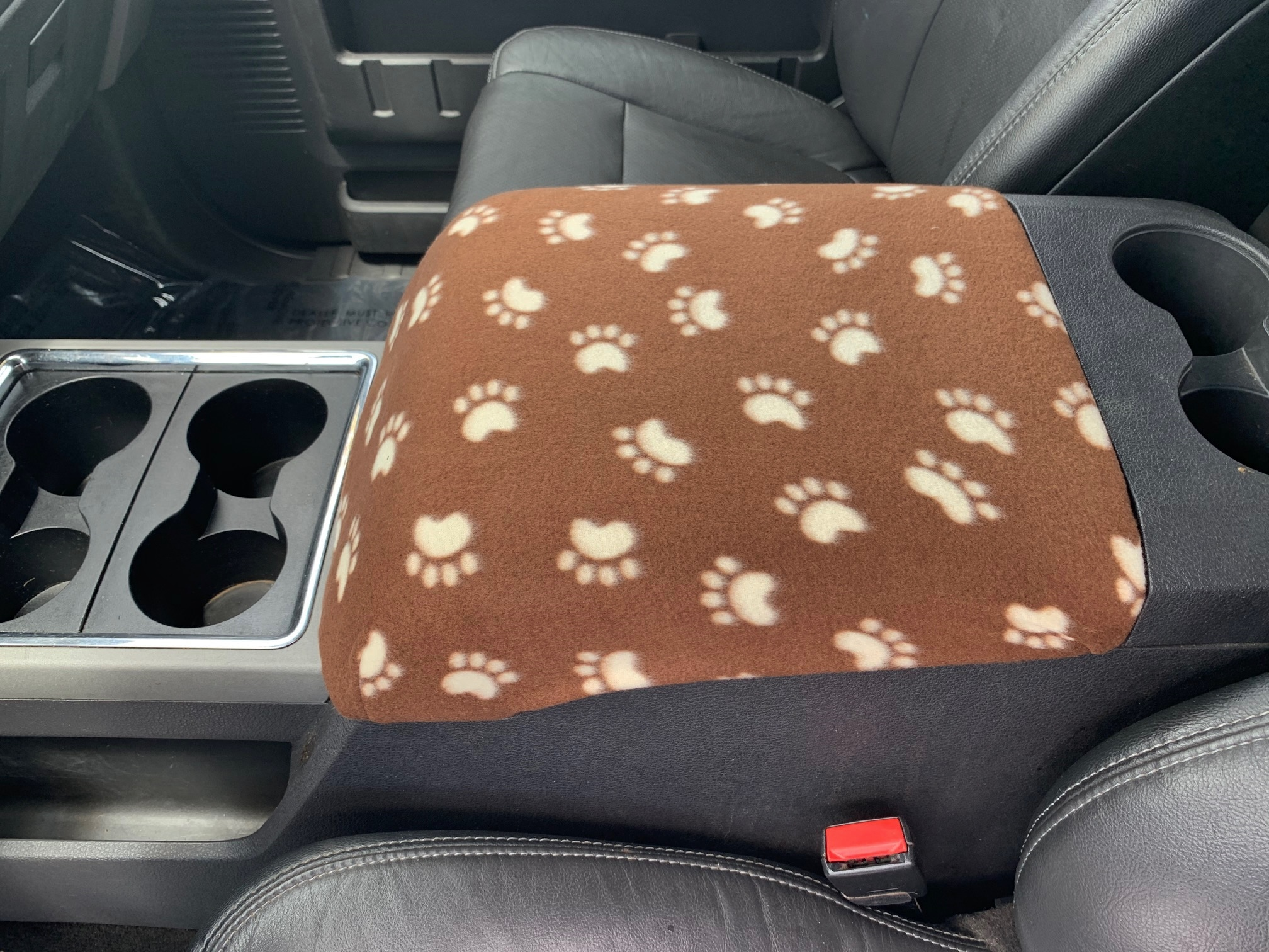 Buy Fleece Center Console Armrest Cover fits the Ford F-350 Super Duty 2011-2016
