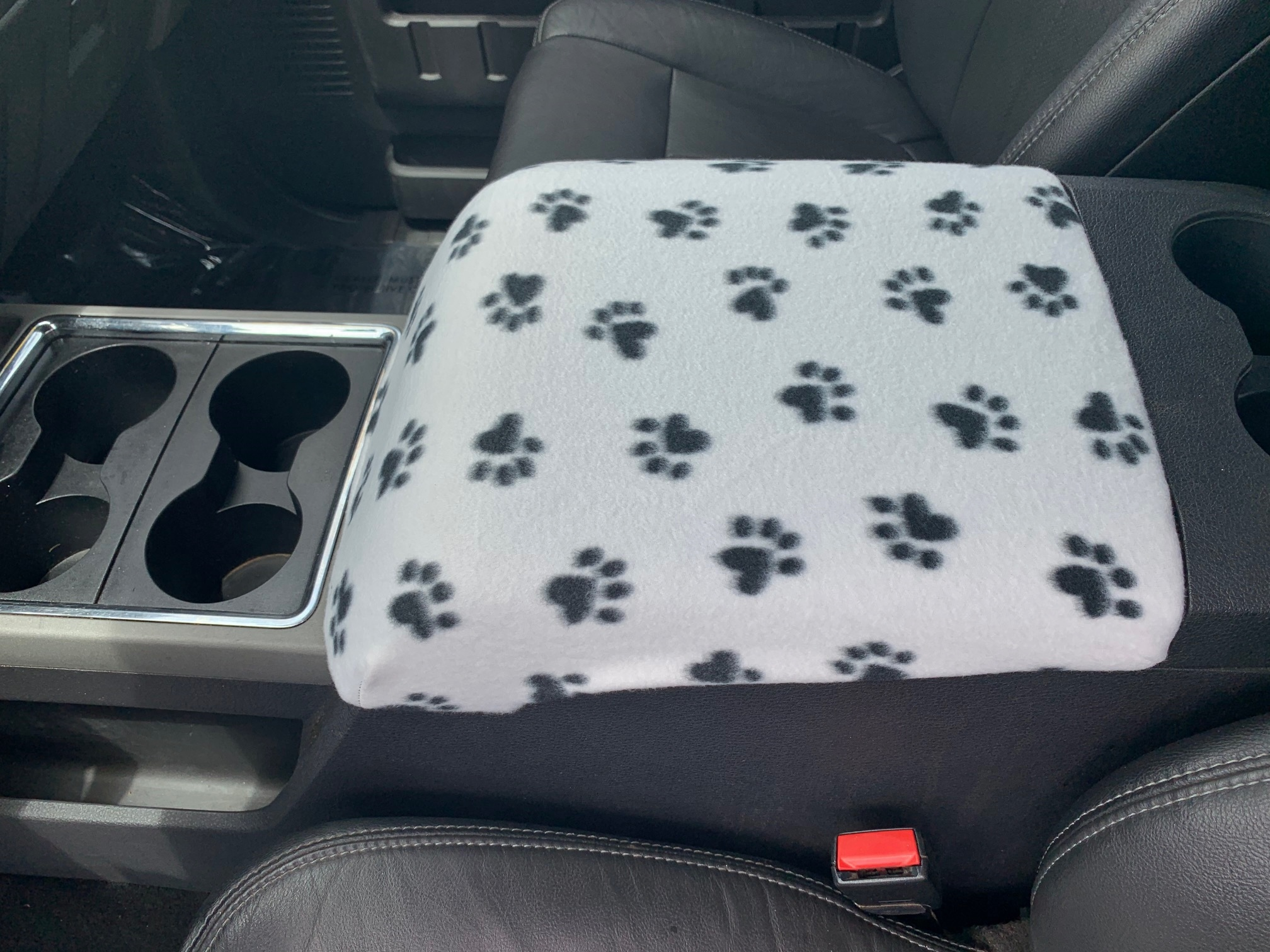 Buy Fleece Center Console Armrest Cover fits the Ford F-450 Super Duty 2011-2016 [CLONE]