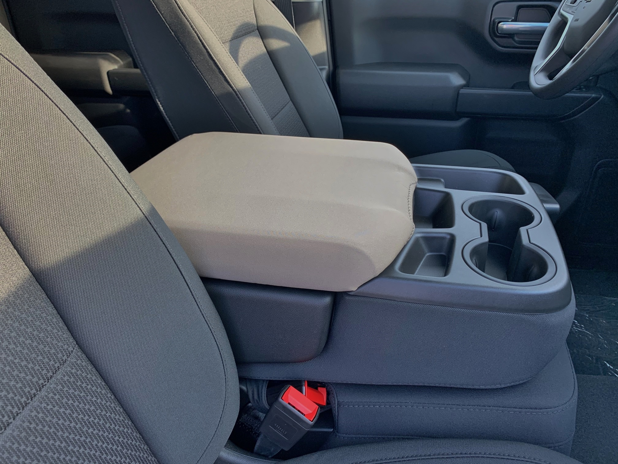 Buy Neoprene Center Console Armrest Cover Fits the Chevrolet Silverado RST 1500, 2500, 3500 2020-2021