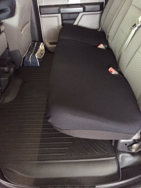 Rear Split Bench Seat Bottom Only Covers Neoprene Material