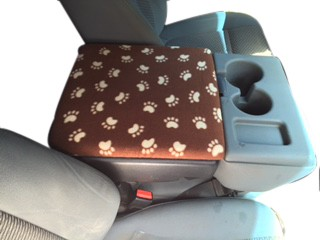 Fleece Console Cover - Ford F-450, F-550, F-650 (2016-2020) Fold down middle seat with console