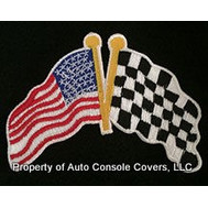 USA Flag and Checker Flag (Patch Only)