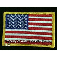 "American Flag Patch 2""x3"" Yellow Trim (Patch Only)"