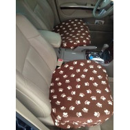 Seat covers-Brown Paws Pattern (PAIR)