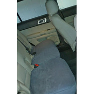 Rear Split Bench Bottom Seat Covers- Fleece