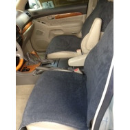 Fleece Slip-On Pancho Bucket Seat Cover (Pair) Dark Gray