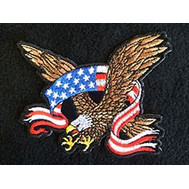 American Eagle Flying with Ribbon Patch