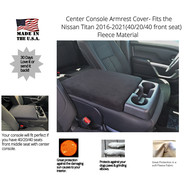 Buy Fleece Center Console Armrest Cover Fits the Nissan Titan 2014-2020 (With Front Middle Seat)