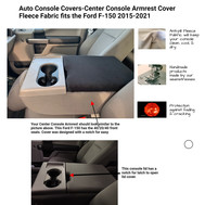 Fleece Console Cover - Ford F-150 (2016-2020) Console on fold down middle seat