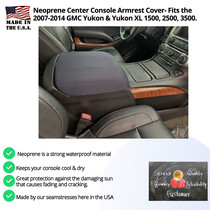 Buy Neoprene Center Console Armrest Cover Fits the GMC Yukon & XL 2007-2014