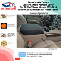 Buy Fleece Center Console Armrest Covers fits the GMC Sierra SLE 2015-2018