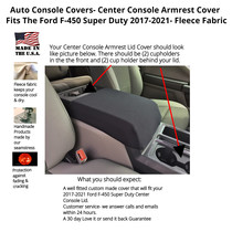Buy Fleece Center Console Armrest Cover fits Ford F-450 Super Duty 2017-2021