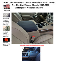 Buy Neoprene Center Console Armrest Cover Fits the GMC Yukon Denali 2015-2018