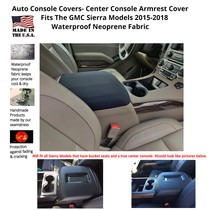 Buy Neoprene Center Console Armrest Covers fits the GMC Sierra 1500, 2500, 3500 2015-2018