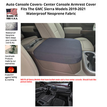 Buy Neoprene Center Console Armrest Cover Fits the GMC Sierra Denali 2019-2021