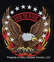 "LIVE TO RIDE PATCH WITH EAGLE AND FLAME 5"" (PATCH ONLY)"